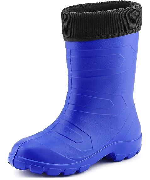 Ladeheid Botas de Agua Muy Ligeras Antideslizantes Zapatos de Seguridad Mujer LALMG879(Aciano/Negro