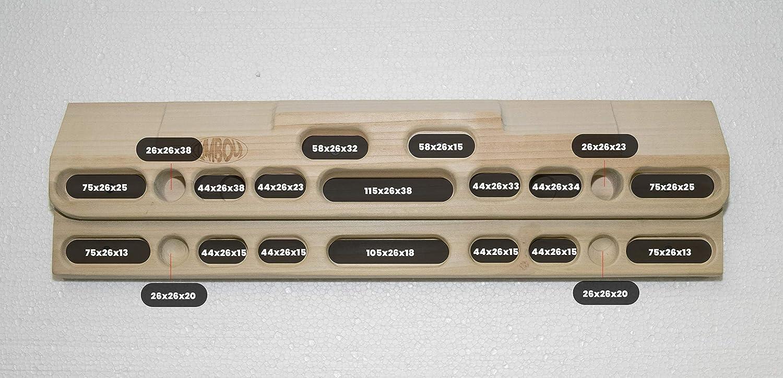 CLIMBOUL ® - Hangboard de Abedul Fabricada en España, Tabla Entrenamiento Escalada | Tabla multipresa Profesional