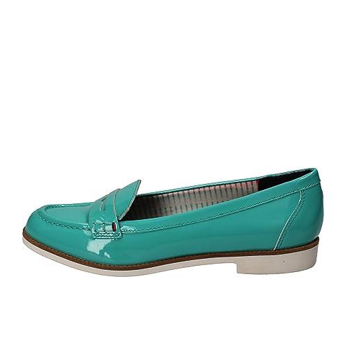 Tommy Hilfiger - Mocasines de charol para mujer azul Size: 37 EU: Amazon.es: Zapatos y complementos