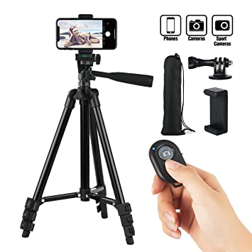 newest 4564d 72e4c Hitch Phone Tripod,Gopro Tripod 42 Inch 106cm Aluminum Lightweight  Smartphone Tripod for Iphone/Samsung/Huawei Cellphone, Camera and Gopro  with ...