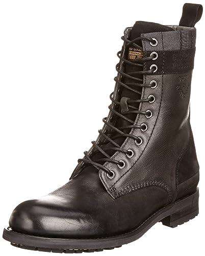 e045dd2237890c G Star Patton V Regiment, Boots Homme - Noir (Black Leather), 40 EU ...
