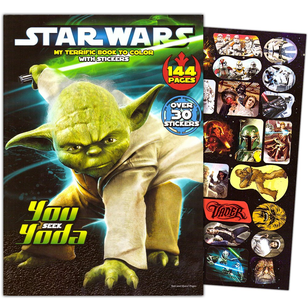 Amazon.com: Classic Star Wars Giant Coloring Book with Stickers (144 ...