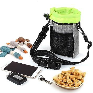 Zunea - Bolsa para perros con dispensador de bolsas de basura integrado, multiusos, manos