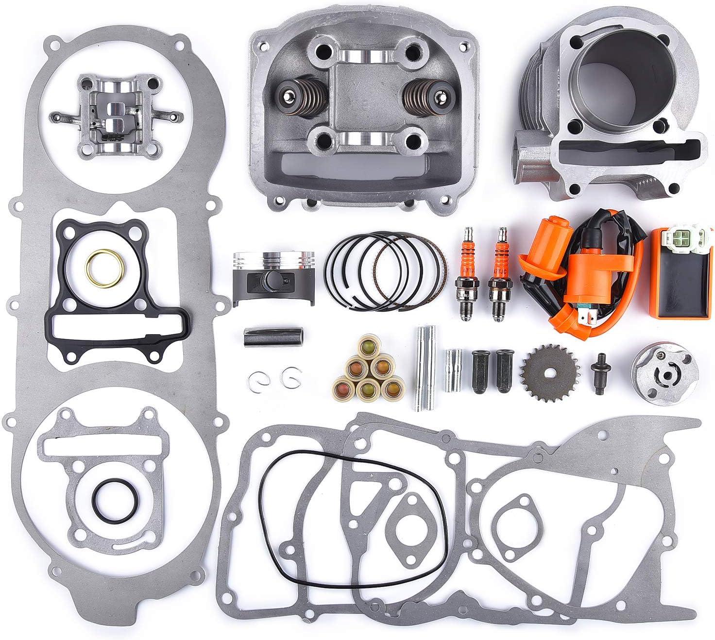 Amazon.com: Kit de cilindro de 2.260 in de diámetro 150 cc ...