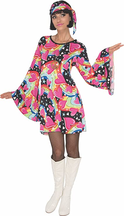 60s Costumes: Hippie, Go Go Dancer, Flower Child, Mod Style Rubies Costume Gogo Girl Womens Disco Costume  AT vintagedancer.com