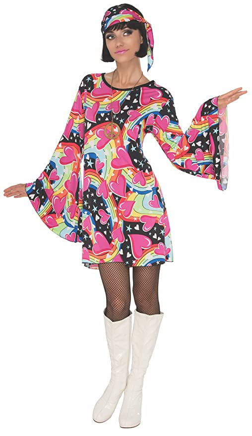 Hippie Costumes, Hippie Outfits Rubies Gogo Girl Womens Disco Costume $17.99 AT vintagedancer.com