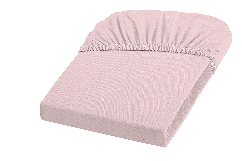 Color Rosa Claro 100 x 200 cm, 100/% algod/ón Fleuresse 1115-4040 S/ábana Bajera con Goma no Necesita Planchado