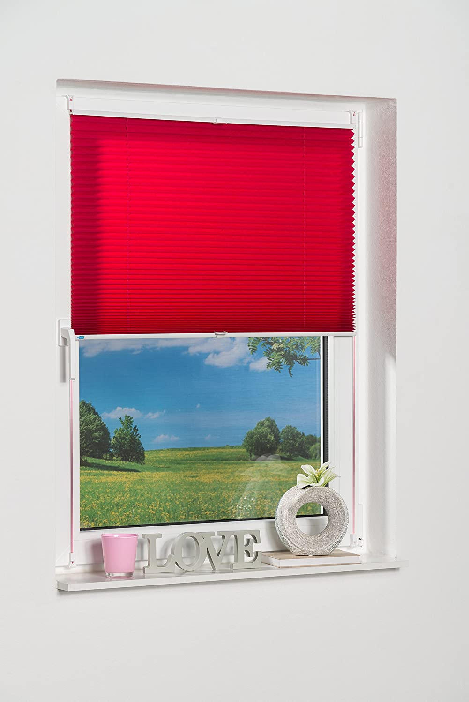 K Home 634845-3/Klemmfix Pleated Blind Pink 40 x 130 cm