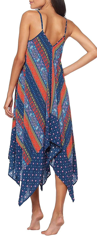 Jessica Simpson Womens Tuara Stripe Print Swim Cover-Up