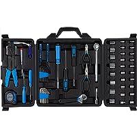 Cartman Blue 122pcs Auto Tool Accessory Set Tool Kit Set Electric Tool Set Drive Socket… photo