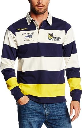 Valecuatro Rugby H Bandas Polo, Blanco Roto, XS para Hombre ...