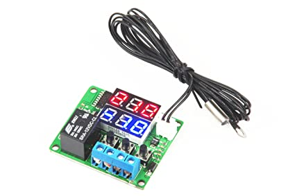 lm yn digital thermostat module dc 12v 10 to 210 electronic rh amazon com Electronic Circuit Components Basic Circuit Diagram Electronics Project