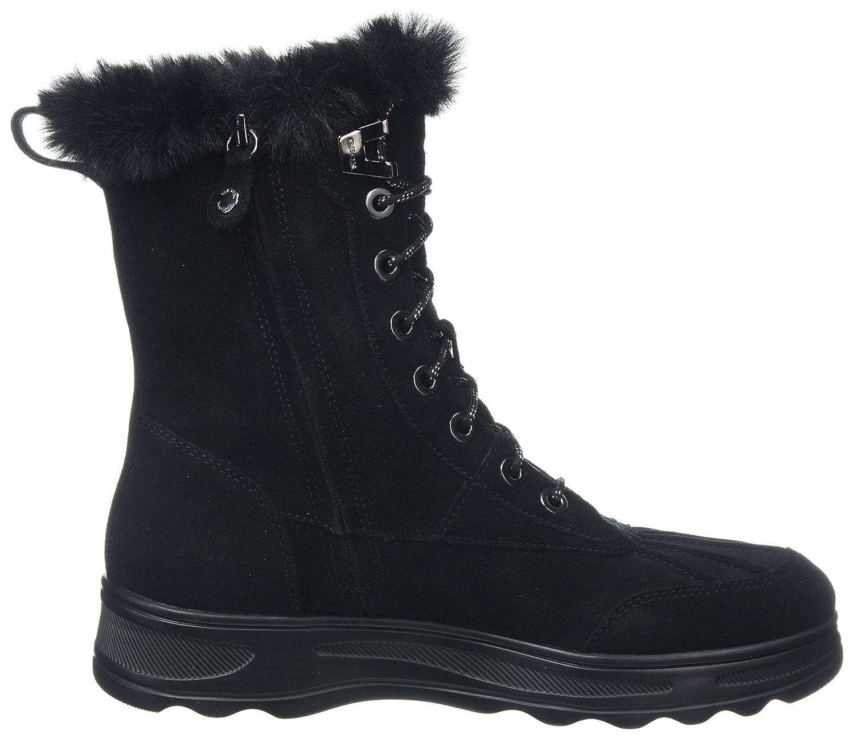 Geox d hosmos b abx b, stivali da neve donna, nero (black c9999), 38 eu