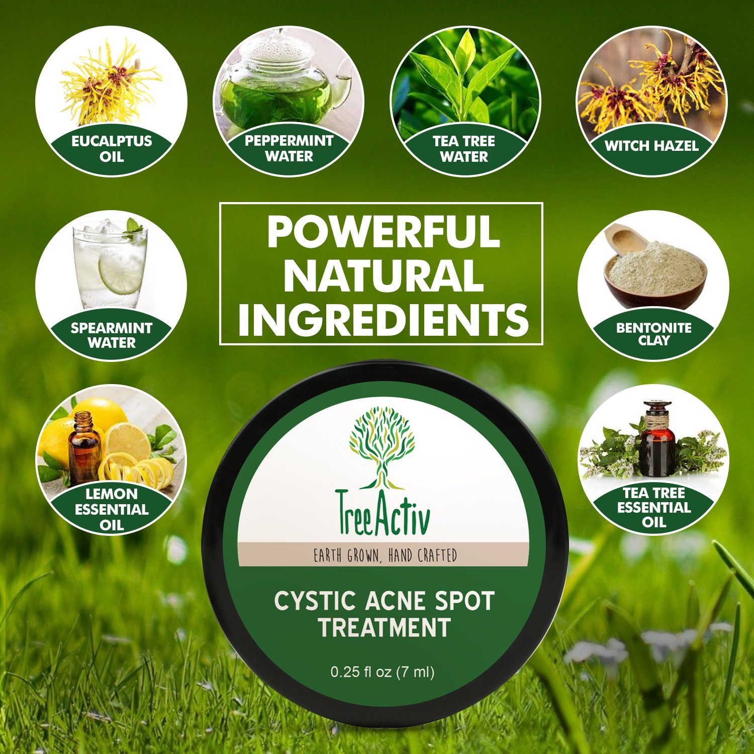 TreeActiv Cystic Acne Spot Treatment, Best Extra Strength Fast Acting Formula for Clearing Severe Acne from Face and Body, Gentle Enough for Sensitive Skin, Adults, Teens, Men, Women (0.25 Ounce) by TreeActiv (Image #3)