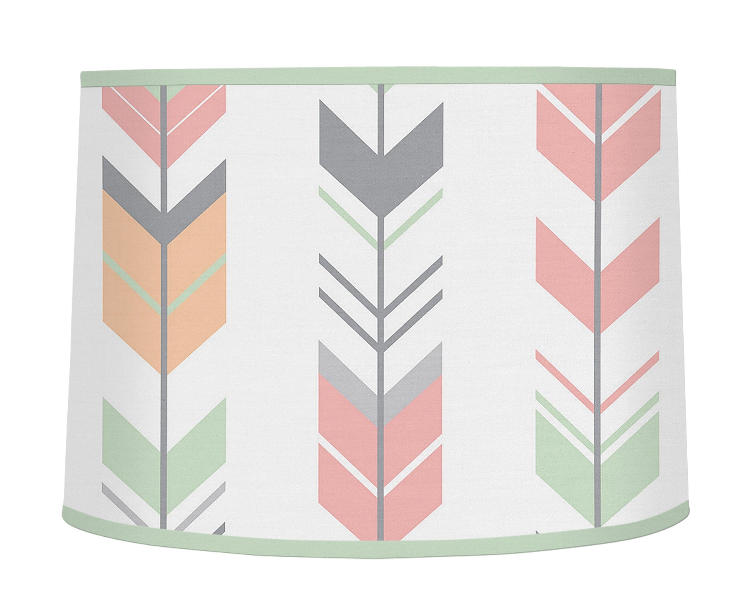 Sweet Jojo Designs Grey, Coral and Mint Woodland Arrow Girl Baby Childrens Lamp Shade