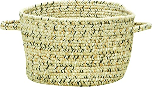 Capel Rugs Sea Pottery Braided Basket, 20 x 12 , Sandy Beach