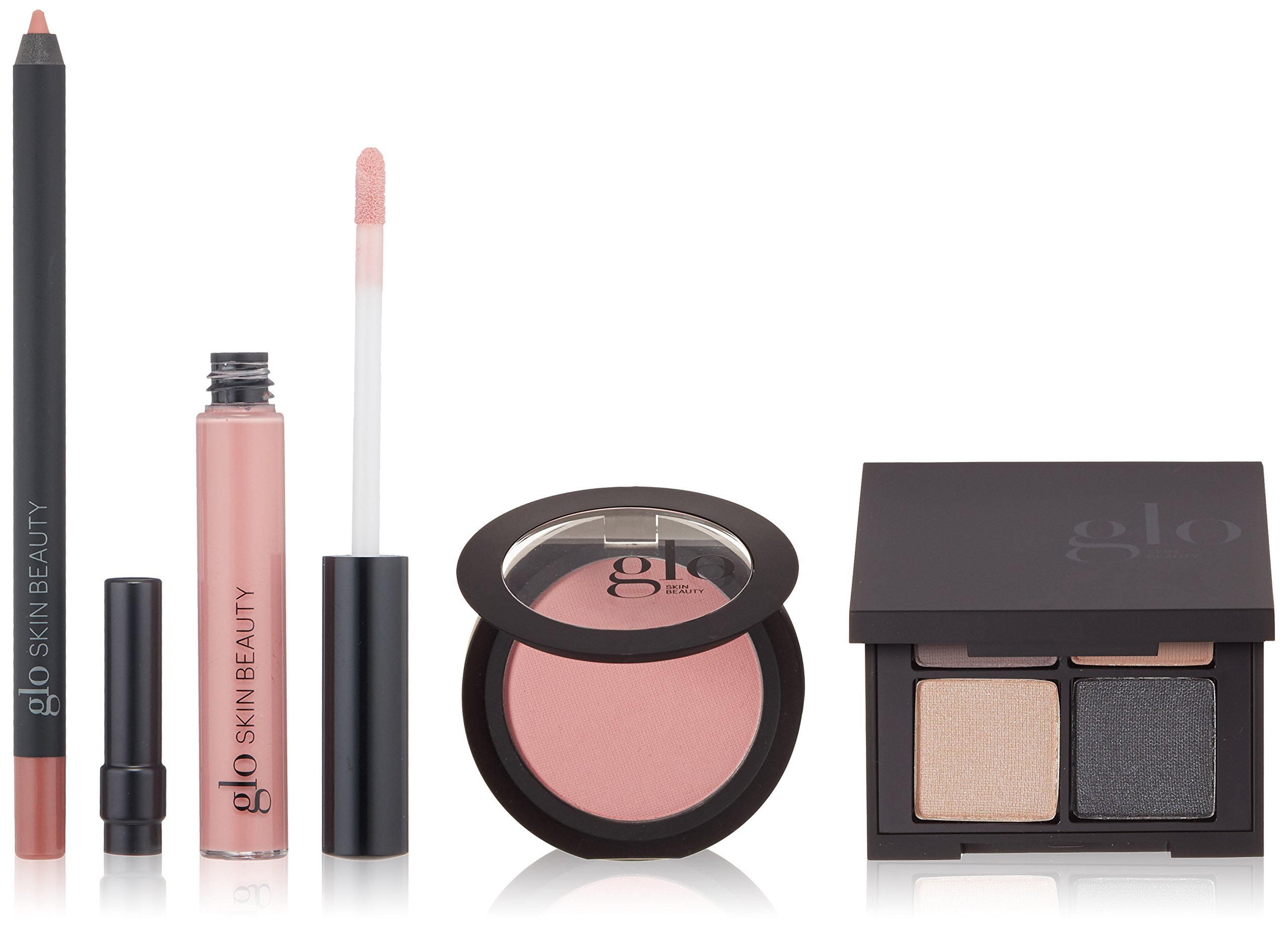 Glo Skin Beauty 4-Piece Day-to-Night Makeup Kit - Soft Pinks | Desk To Datenight in Cityscape Mineral Makeup