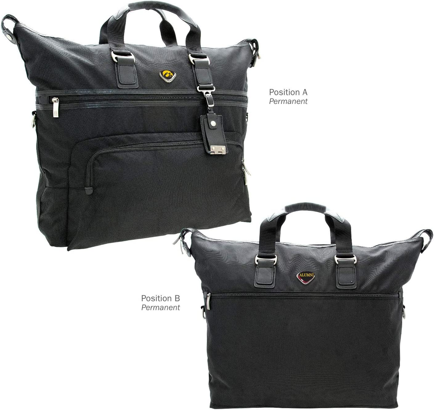 AdSpec NCAA Iowa Hawkeyes Collegiate Executive Weekender Duffel BagCollegiate Executive Weekender Duffel Bag Black One Size