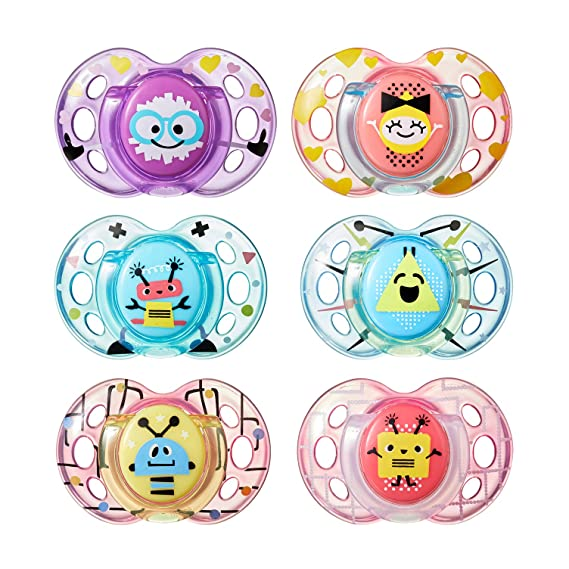 Tommee Tippee Closer to Nature Fun Pacifier, 6-18 Months, 2 ...