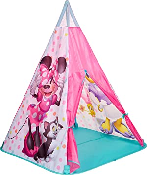minnie mouse play tent with tunnel