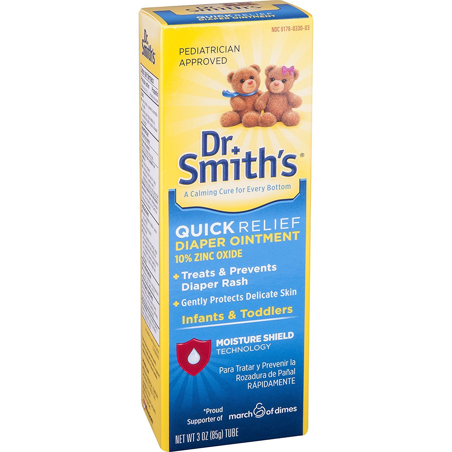 Dr. Smith's Premium Blend Diaper Ointment tube 3 oz (Pack of 3) by Dr. Smith's
