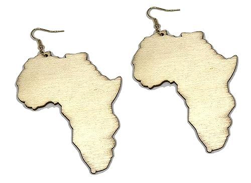 Amazon Com Hawaiiancraftier Africa Earrings Map Outline Reggae