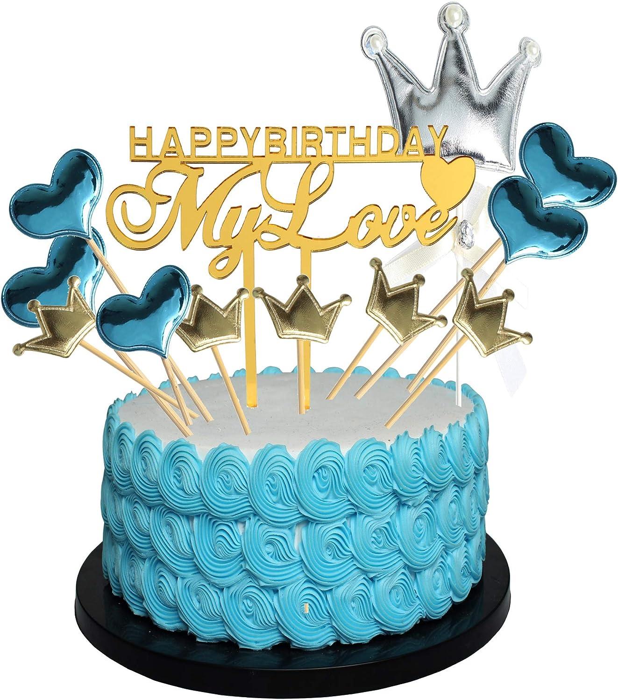 Supplies Wedding Decorartioon Cake Topper Cake Decor Glitter Star Heart Shape