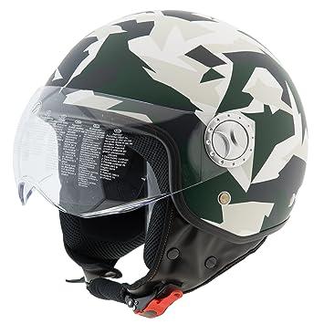 Casco Jet para moto, scooter, homologado ECE R22 – 05 visera de sol esférica