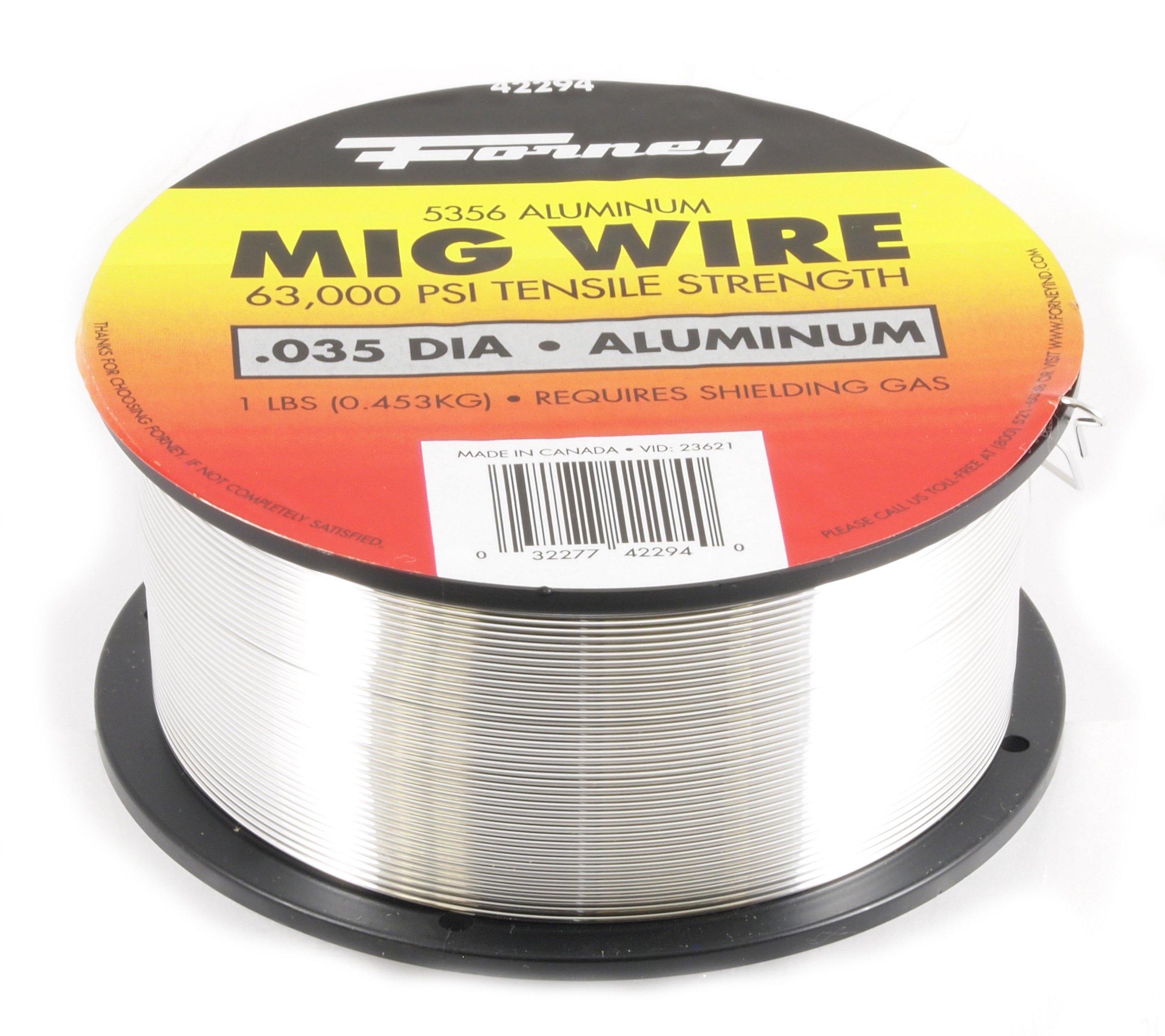 Forney 42294 Mig Wire, Aluminum Alloy ER5356.035-Diameter, 1-Pound Spool