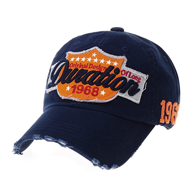 WITHMOONS Gorras de béisbol Gorra de Trucker Sombrero de Vintage Baseball  Cap Distressed Emboridery Trucker Hat b4c27459fe95