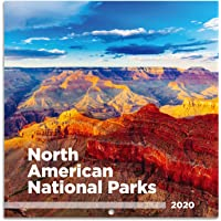 """2020 Wall Calendar - 2020 Wall Calendar, 12 Month Jan - Dec, 12"""" x 24"""" (Open), Unruled Blocks with Julian Date, Thick & Sturdy Paper, Perfect for Organizing & Planning - National Parks"""