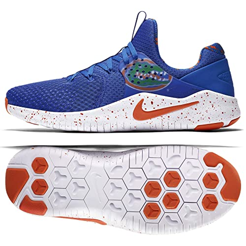 outlet store f2d0c 2a3ac Nike Men s Free TR 8 Florida Training Shoes (Blue White Orange, 9.5