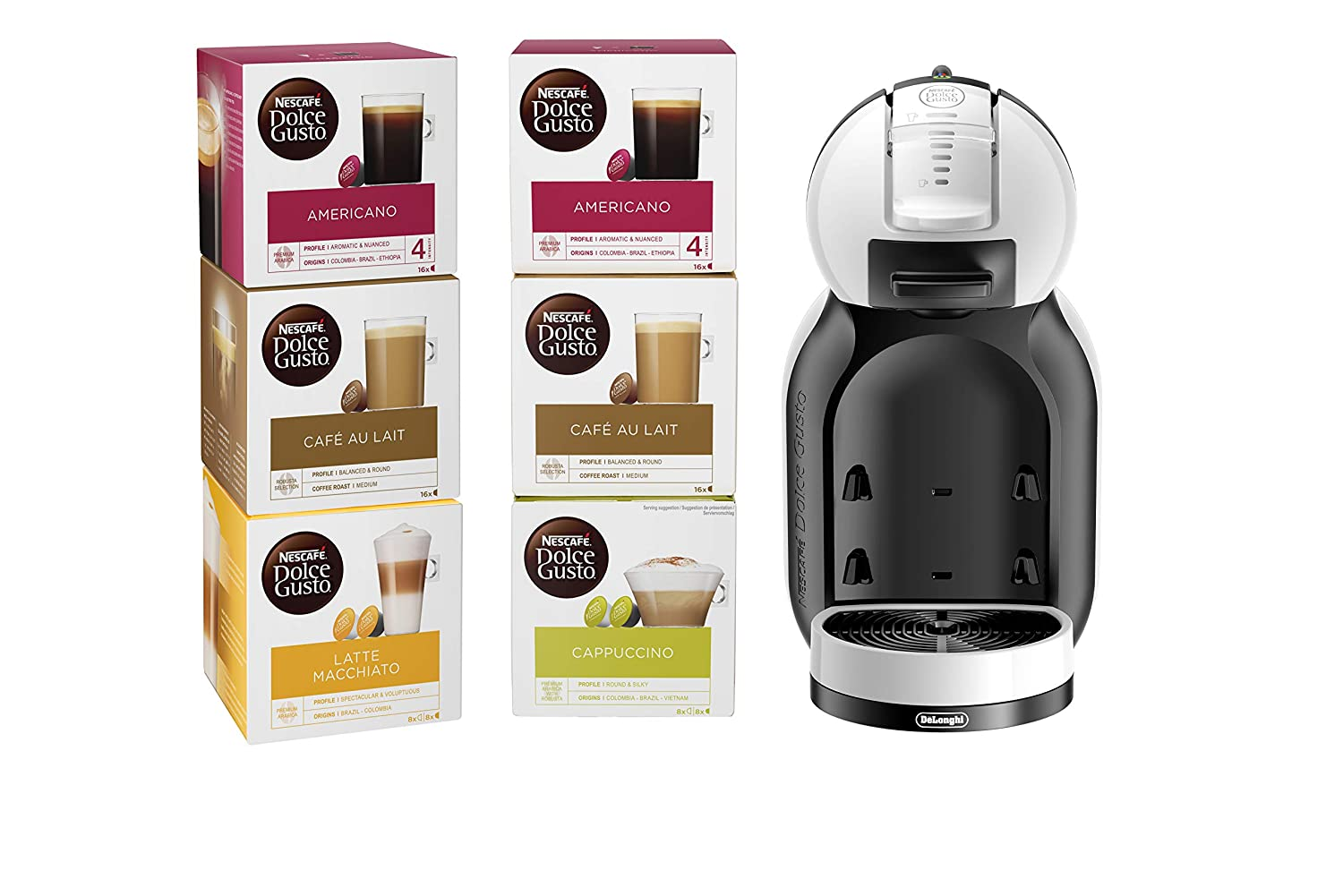 Amazon.com: Nescafe edg305wb Dolce Gusto Mini Me Bundle 220 ...
