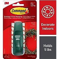 Command Large Utility Hook, Green, 1-Hook, 2-Strips (17003GR-ES)