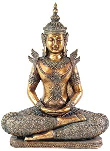 "Feng Shui 12"" Bronze Buddha Dhyani Mudra Home Decor Peace Statues(G16516)~ We pay your sales tax"