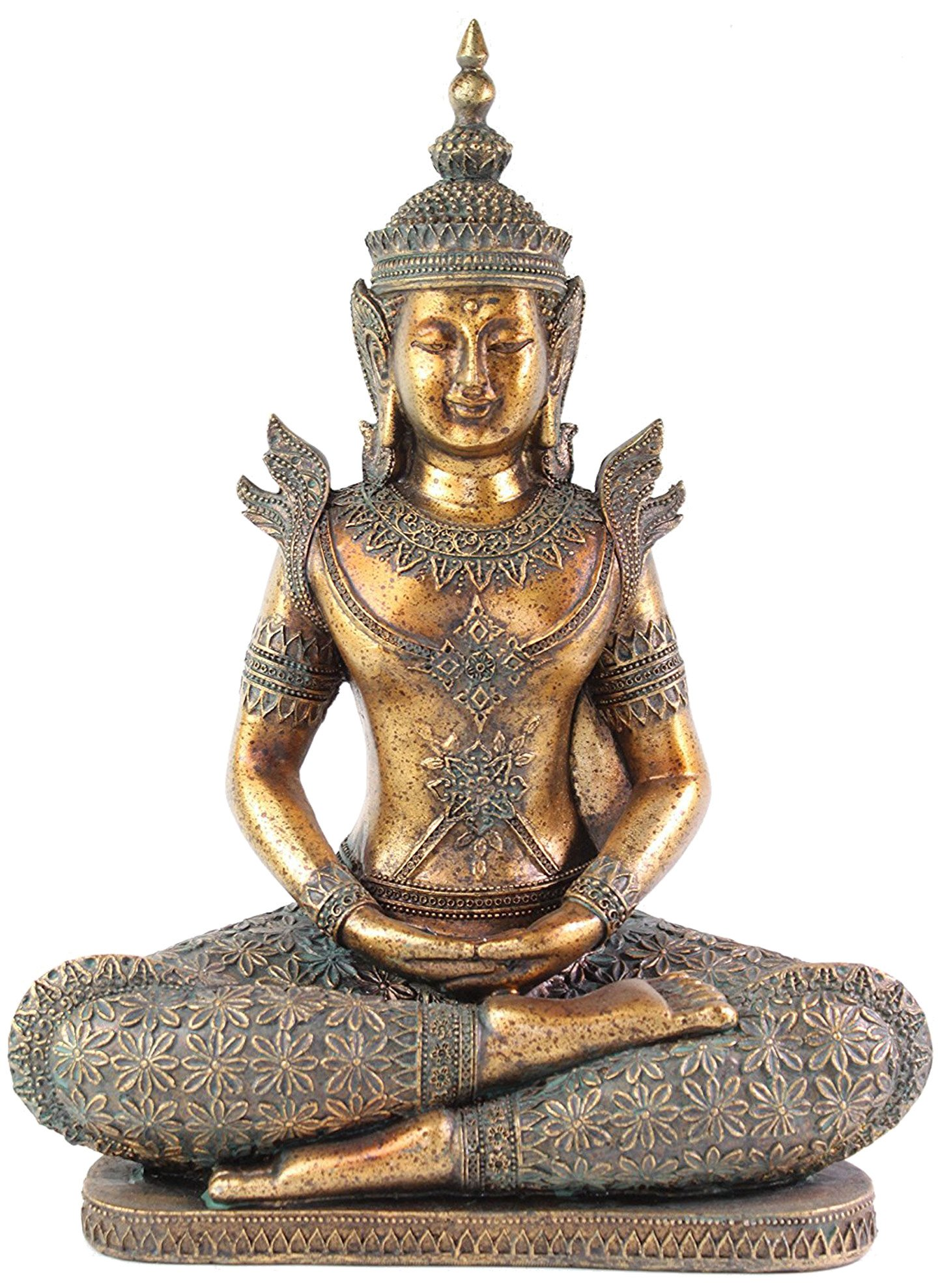 Feng Shui 12'' Bronze Buddha Dhyani Mudra Home Decor Peace Statues(G16516)~ We pay your sales tax by We pay your sales tax