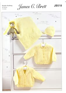 Double Knitting Pattern Baby Kids Lace Cardigans /& Jumper James Brett DK JB509