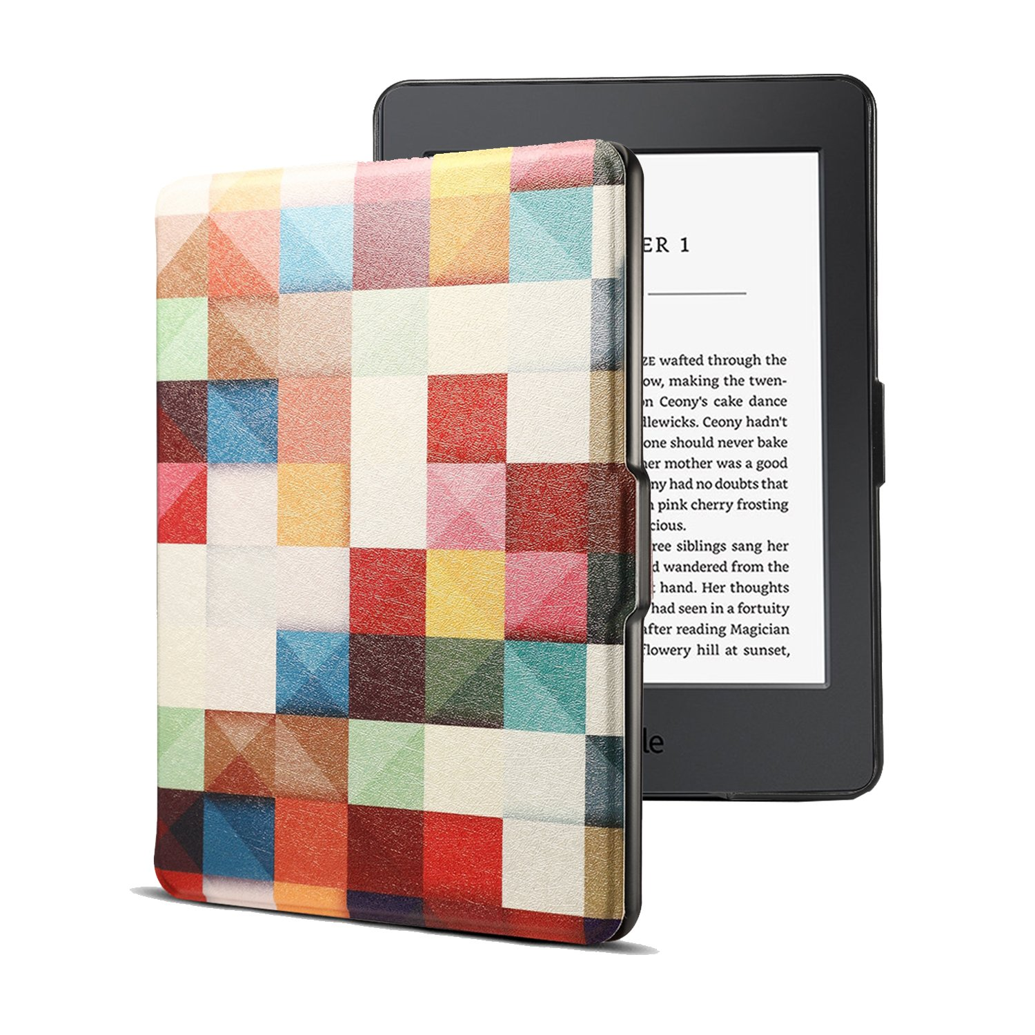 Kindle Paperwhite Case, AICOO Slim Auto Wake/Sleep Magnetic Closure Book Flip PU Leather Tablet Protector Case Cover for eBook Reader Kindle Paperwhite All Versions 2012, 2013, 2014 and 2015,Cube