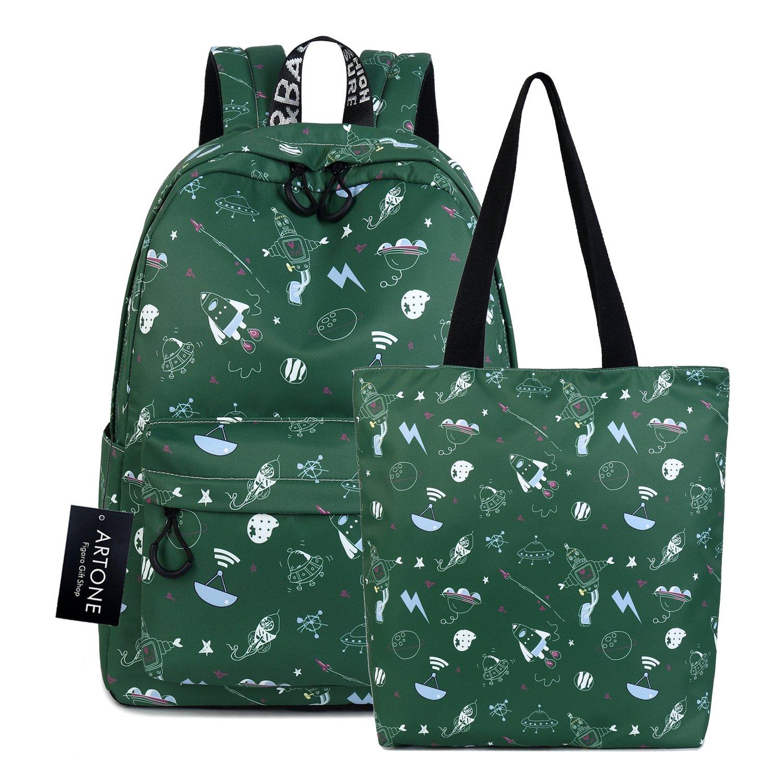 Artone Green Universe Galaxy Casual Crossbody Bag Campus Shoulder Bag Fit iPad FIGARO101002