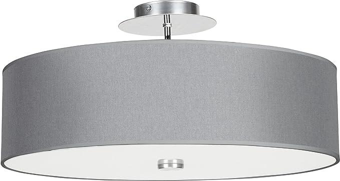 Viviane - Lámpara de techo moderna de metal/textil/cristal ...