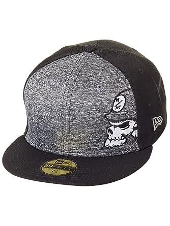 15b1de4b Amazon.com: Metal Mulisha Men's Tone New Era Fitted Hat Black 7 3/4 ...