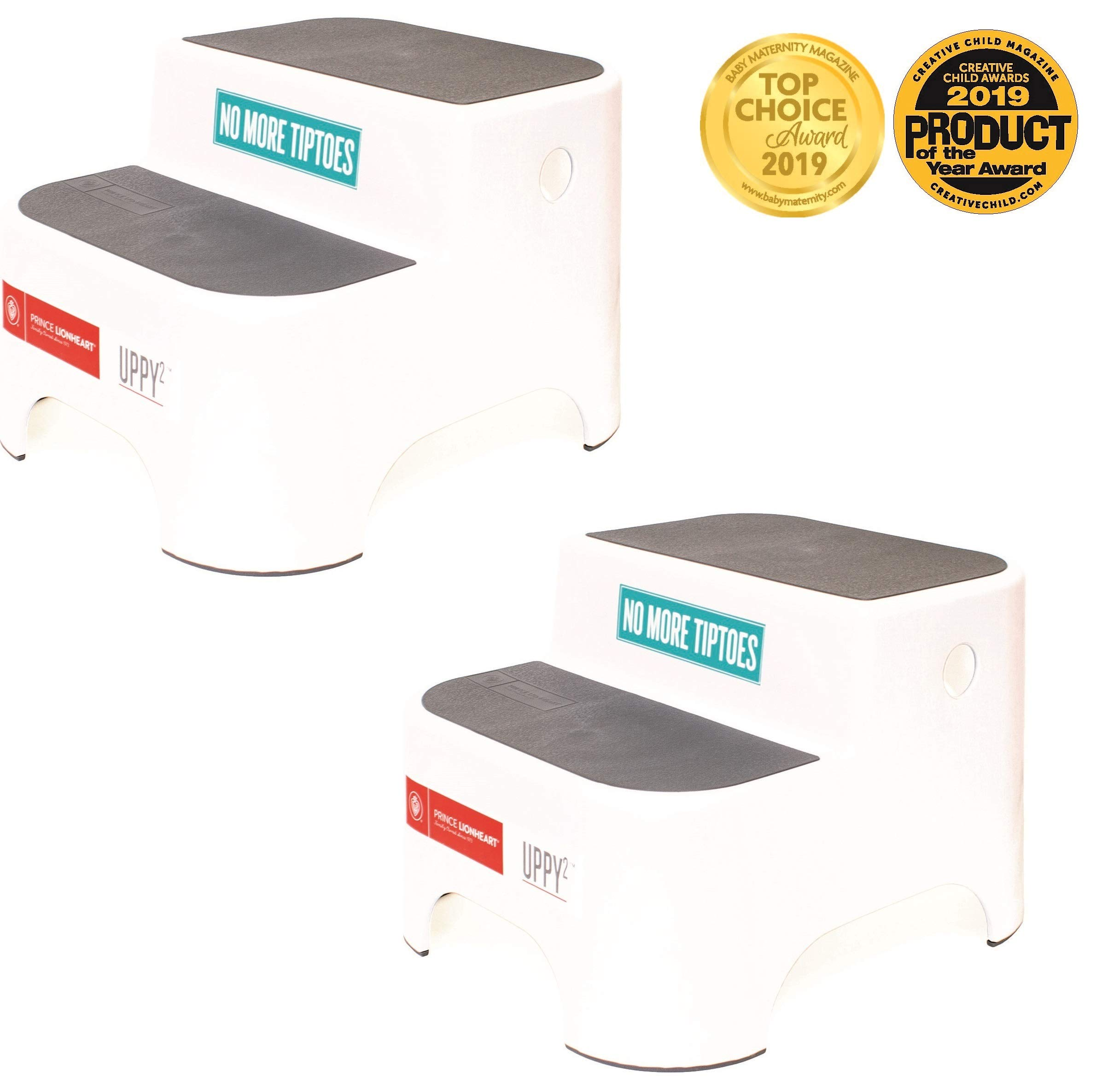Prince Lionheart UPPY2 (2 Pack) Step Stools (Galactic Grey)