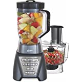 Oster Pro 1200 Blender with Professional Tritan Jar and Food Processor attachment, Metallic Grey