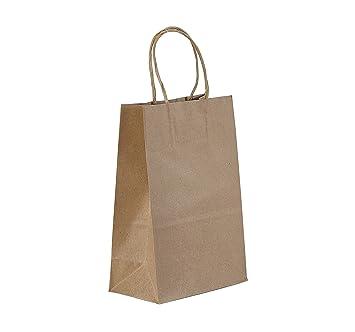 Amazon.com: PTP - 250 bolsas de mano para regalo, de papel ...
