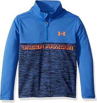 Youth Under Armour Pullover 1//4 Zip Long Sleeve Black Printed Shirt Top 4 5 6 7