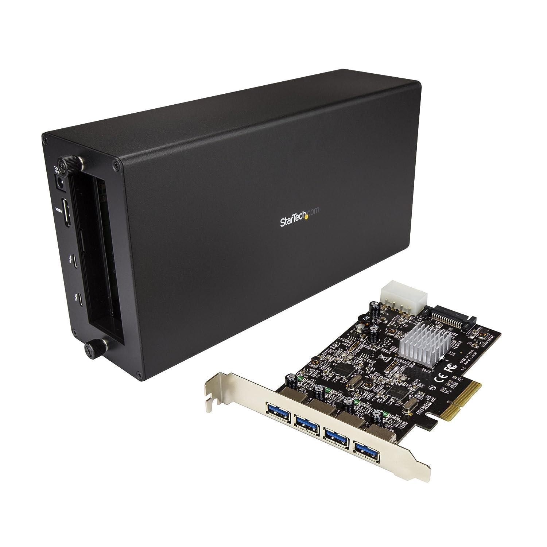 StarTech。com Thunderbolt 3 to PCIe USB 3.1アダプタ – シャーシ+ 4ポートカード B079PFD6Y2