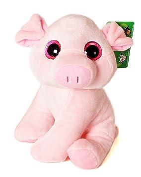 """Animales de la Granja - Peluche Cerdo con ojos brillantes (10""""/26cm)"""