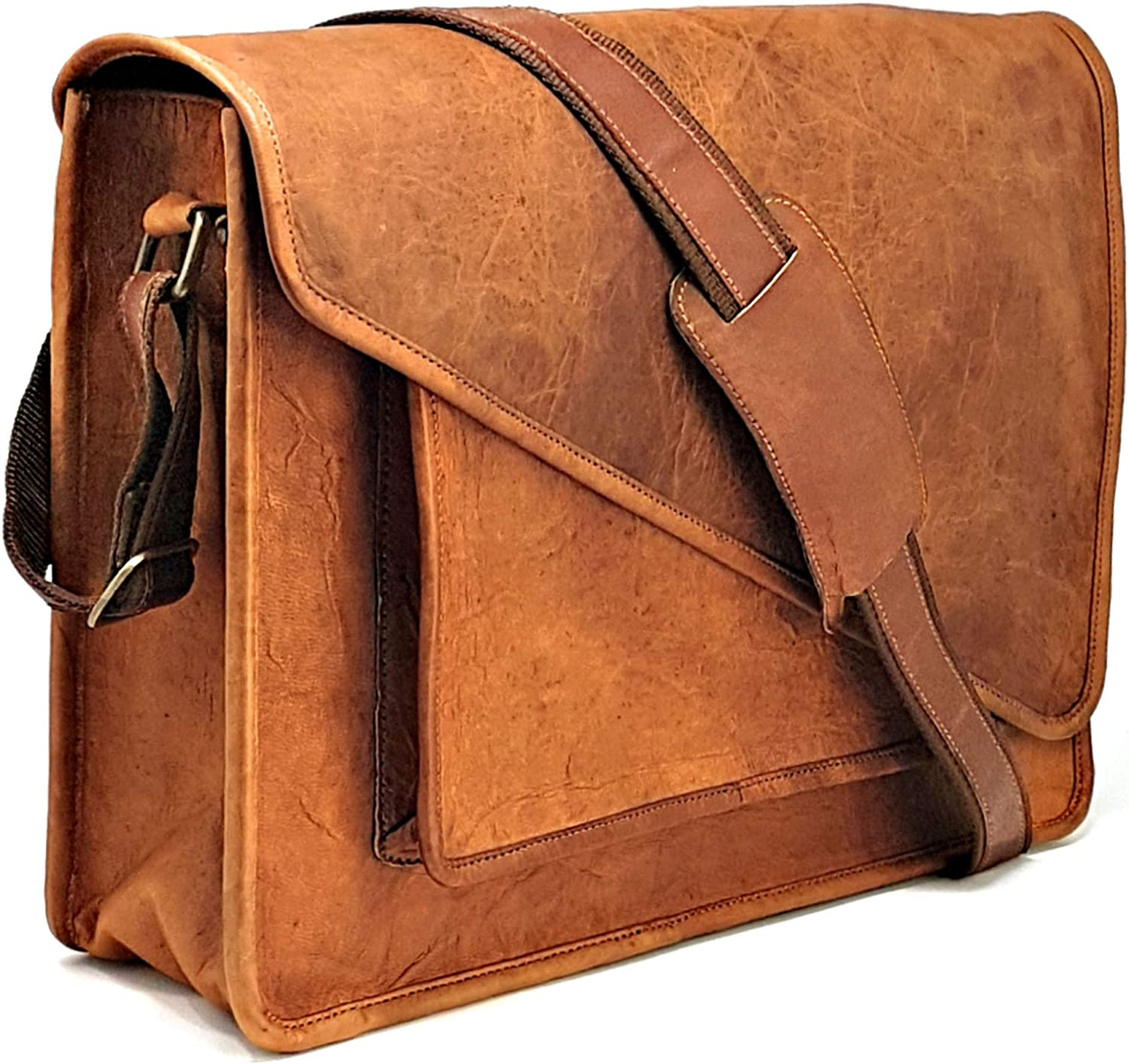 Laptop Messenger and Shoulder Bag – Leather Crossbody Office Bag – Unisex