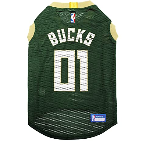 823f8568 NBA MILWAUKEE BUCKS DOG Jersey, Large - Tank Top Basketball Pet Jersey