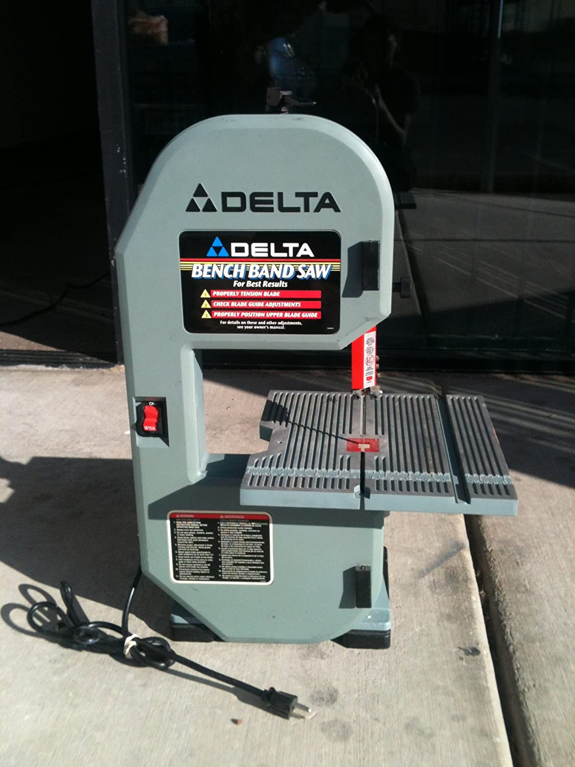 Awesome Delta Bench Band Saw Model 28-185 Part - 7: Amazon.com